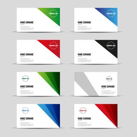 assess: Modern business card template set