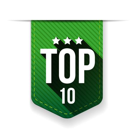 top ten: Top Ten vector ribbon