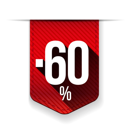 recommendations: Sale 60% off banner red ribon