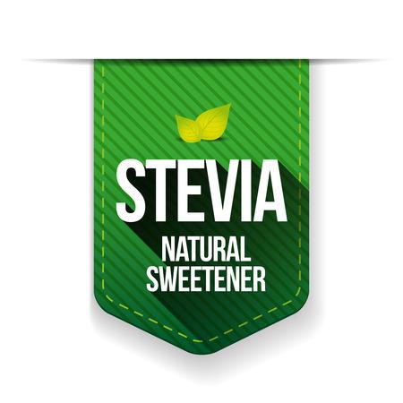 sweetener: Stevia - Natural Sweetener ribbon vector Illustration