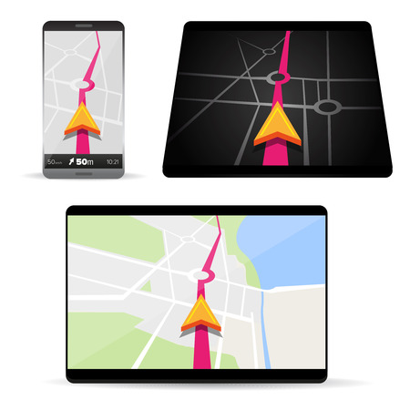lake district: Navigation in smartphone or tablet