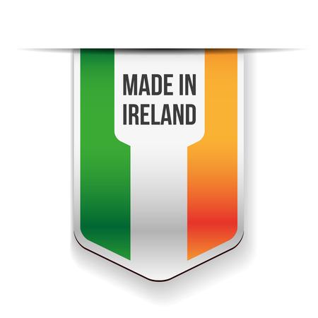 ireland flag: Made in Ireland flag ribbon