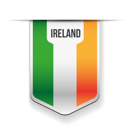 ireland flag: Ireland flag ribbon