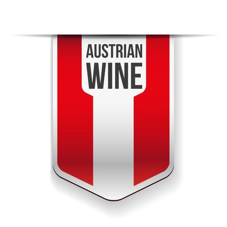 world agricultural: Austrian Wine flag ribbon Illustration