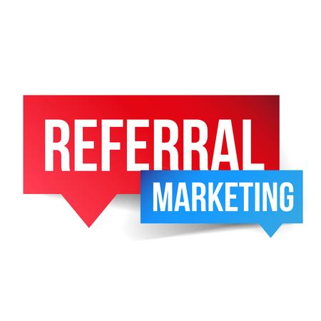 Bocadillo de diálogo de vector de marketing de referencia