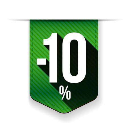 recommendations: Sale twenty five percent off banner green ribon