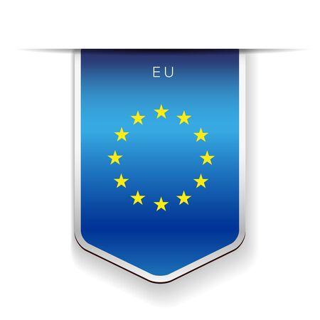 identidad cultural: vector de la cinta bandera de la UE Vectores