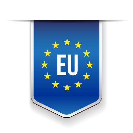 nationalist: EU flag ribbon vector