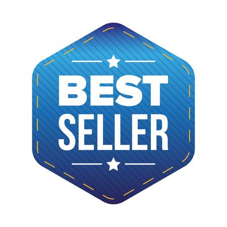 seller: Best Seller blue patch Illustration