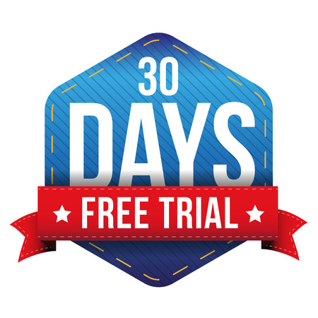 Thirty days free trial vector Ilustrace