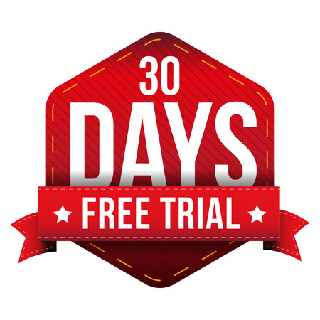 Thirty days free trial vector Illustration