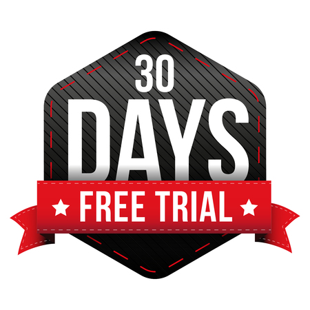 days: Thirty days free trial vector Illustration