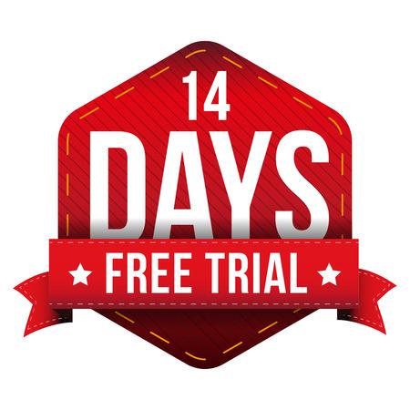 days: Fourteen days free trial vector