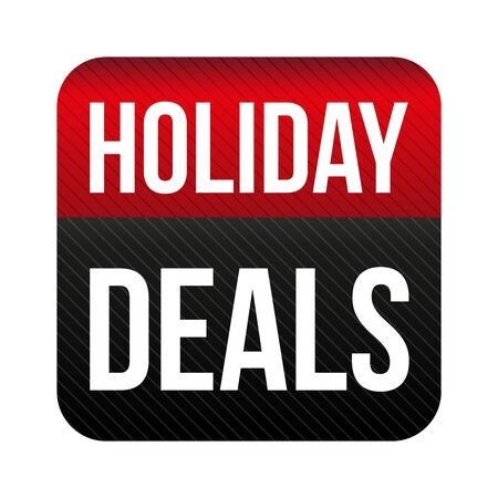 holiday: Holiday Deals button vector