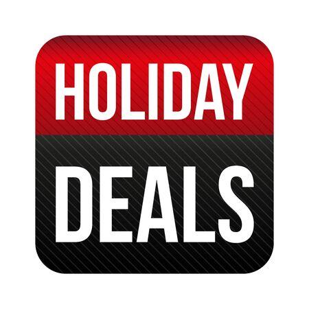 deals: Holiday Deals button vector