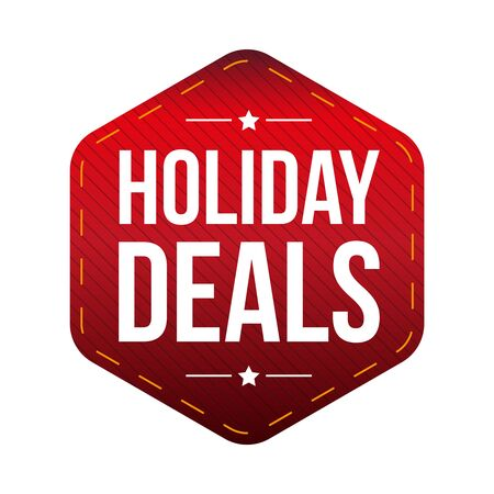 holiday: Holiday Deals patch vector