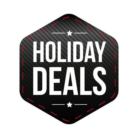 deals: Holiday Deals patch vector