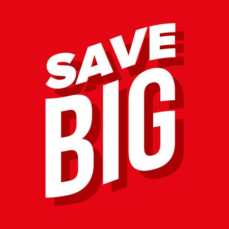 Save Big vector lettering