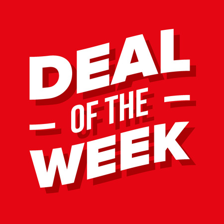 Deal of the Week vector lettering Illustration