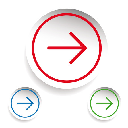 unfold: Arrow icon set vector sticker