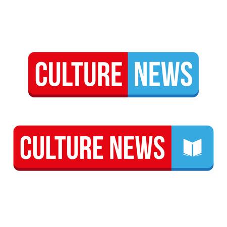 culture: Culture News button vector