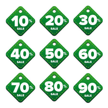 pricetag: Sale percent pricetag green vector