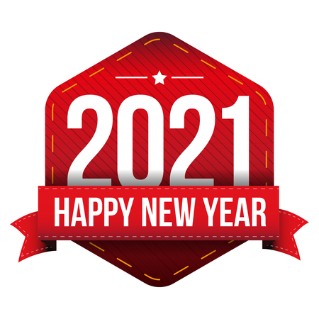 happy new year: Happy New Year 2021 vector Illustration