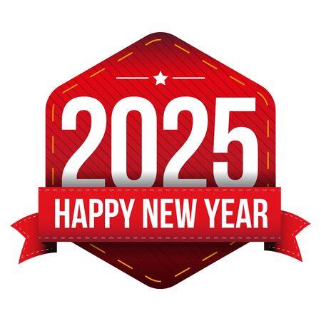 year: Happy New Year 2025 vector