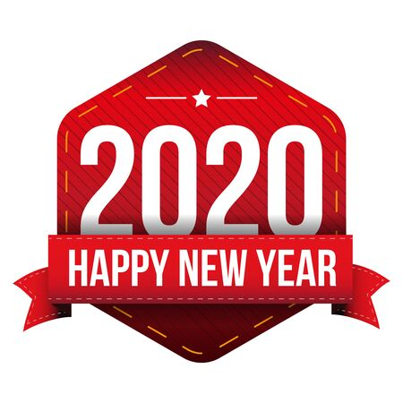 happy new year: Happy New Year 2020 vector Illustration