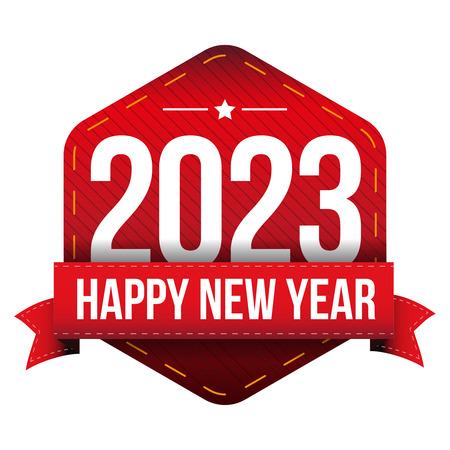 year: Happy New Year 2023 vector
