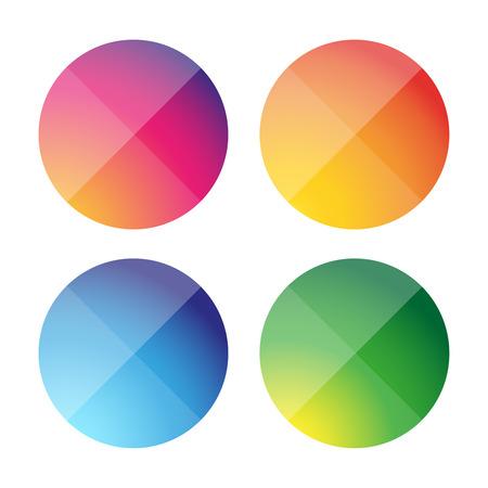 fuchsia color: Empty round button vector set