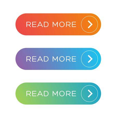 button: Read More colorful button set Illustration