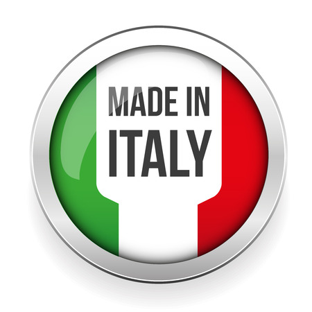 italia: Made in Italy button Illustration