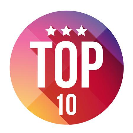 top ten: Top Ten button vector