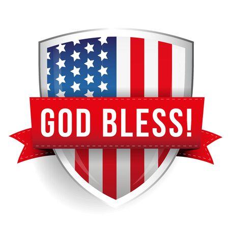 shiled: God bless America shiled with USA flag