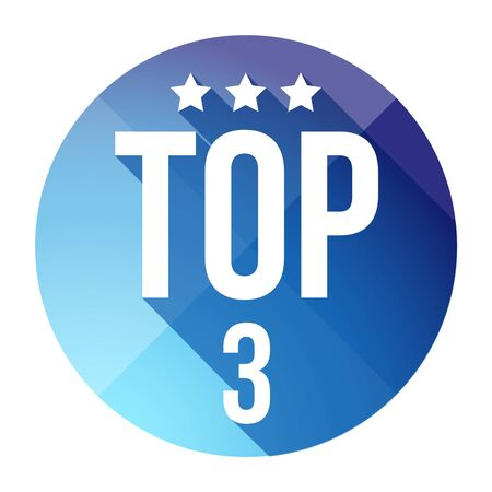 Top Three button vector Stock Photo
