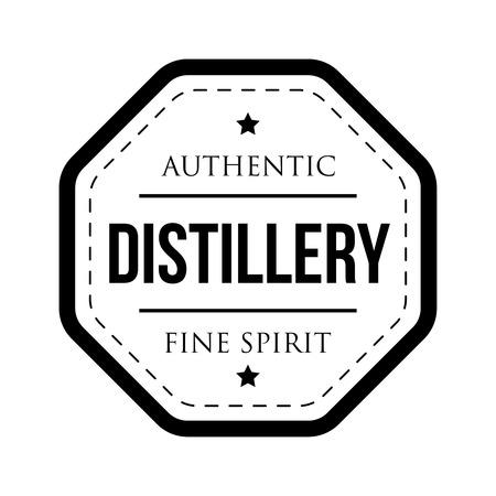 distillery: Distillery vintage logo stamp Illustration