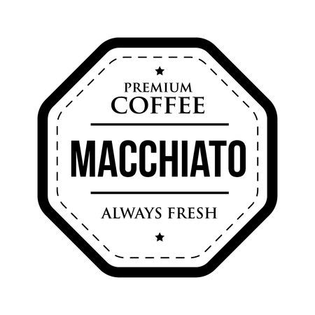 Coffee Macchiato vintage stamp