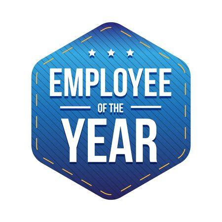 best employee: Employee of the Year vector badge