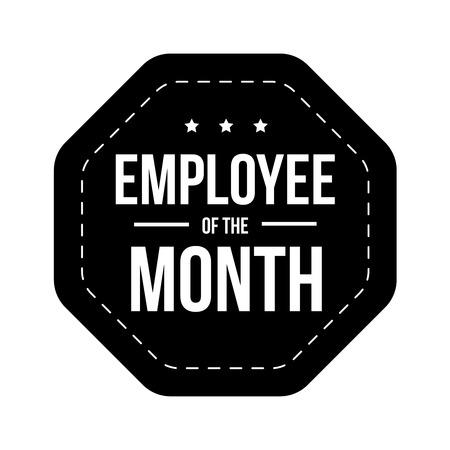 best employee: Employee of theMonth vector badge