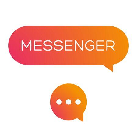 Messenger icon illustration.