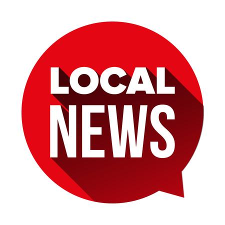 Local News sign speech bubble.