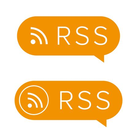 RSS feed icon sign Stock Photo
