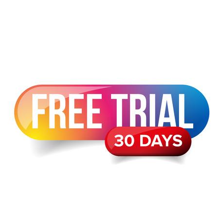無料トライアル - 30 日間をベクトルします。