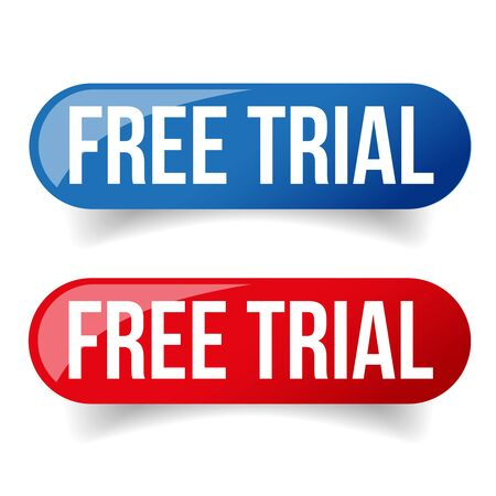free trial: Free trial button set