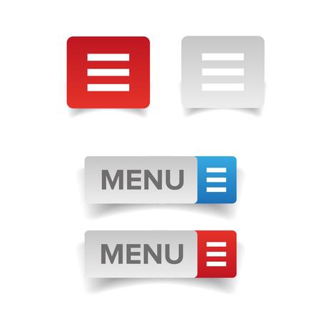 Bouton icône du menu Web Banque d'images - 76510823