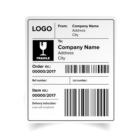 Shipping Label Template Royalty Free Cliparts, Vectors, And Stock ...
