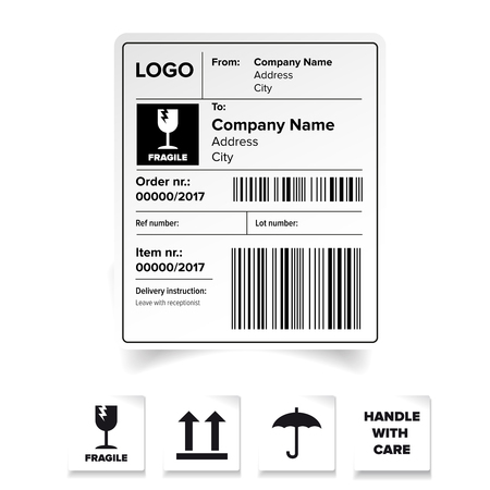 Shipping Label Template Royalty Free Cliparts Vectors And Stock