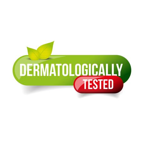 Dermatologically Tested vector button
