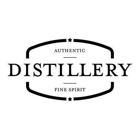 distillery: Distillery vintage stamp black Illustration